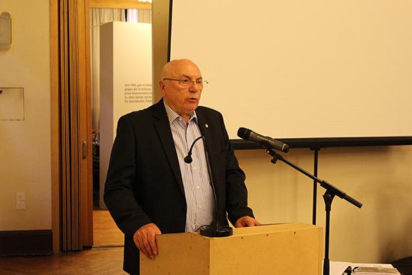 Frank Nemetz am Rednerpult 2019
